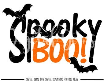 Spooky Boo Halloween svg / dxf / eps / png files. Digital download. Compatible with Cricut and Silhouette. Small commercial use ok.
