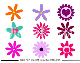 Flower svg / dxf / eps / png files. Digital download. Compatible with Cricut and Silhouette machines. Small commercial use ok.