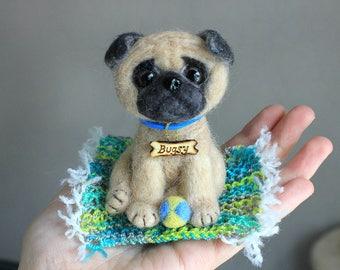 Needle felting dog