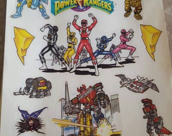 Mighty Morphin Power Ranger Window Clings