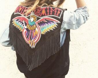 Eagle sleeveless jacket