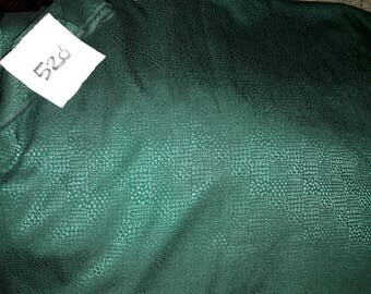 No. 520-fabric polyester viscose-green faux crocodile slightly stretchy skin effect patterns