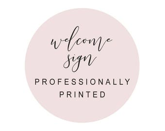 Wedding Welcome Sign, Professionally Printed on 200gsm Cardstock, Wedding Poster, Peach Perfect Australia