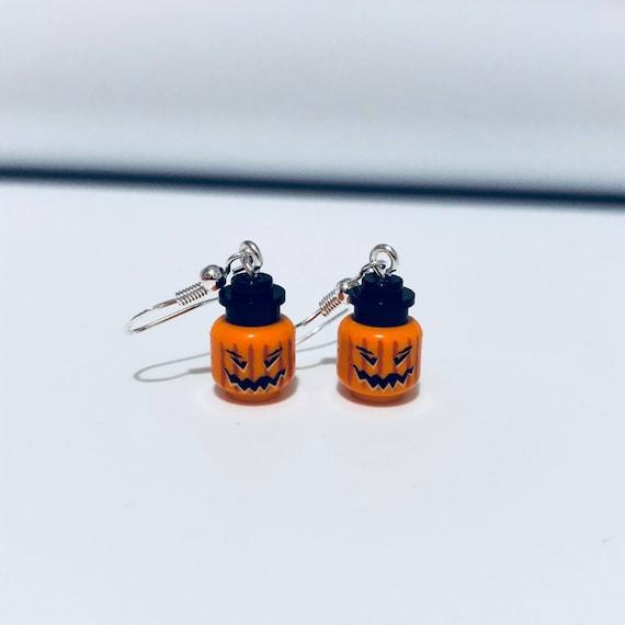 Orange Pumpkin Dropdown Earrings