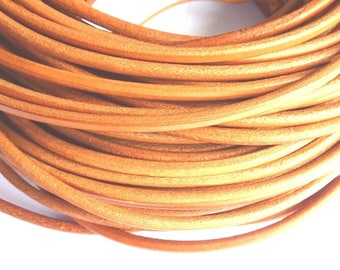 1 m leather cord 3 mm natural PR01200