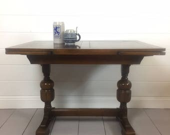 Vintage English Pub Table, Refectory, J C Lane High Wycomb, 1951, Springfield VA Pick up or ship upon inquiry