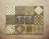 Handmade Ceramic Rustic Multicoloured Tiles for Kitchen/Bathroom Backsplash - Wall Tile - Decorative Tile