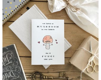 Mushroom Card • fungi card, card for dad, funny card for dad, Father's Day card, funny Father's Day card, fun guy, pun card, punny, dad card