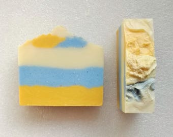 Bay Rum scented Soap Bars ~ for the Men! Bright & Beachy colors ~ warm rich smell