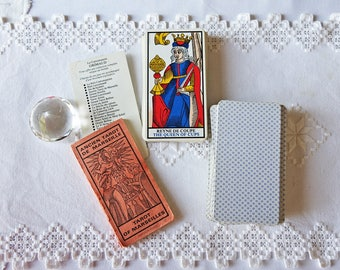 Tarot of Marseilles - Ancient Tarot de Marseilles - 1977 -  French Vintage Playing Cards - Fortune Telling Cards - Vintage Deck
