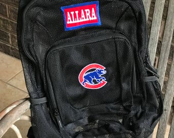 Mesh Backpack | College Team | Cubs | Chicago | Boys Backpack | Baseball Bag|  Embroidered Mesh Backpack | Personalized Cubs Backpack |Bears