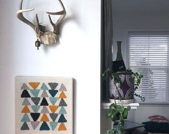Modern Punched Rug Wall Art