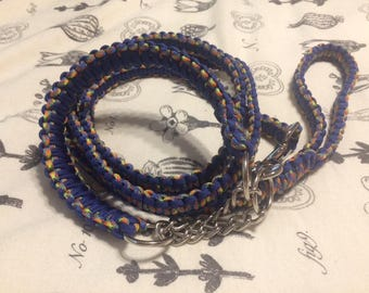 XXS Martingale Collar and 4ft two handle paracord cobra knot leash- Custom Colors, put collar style in Notes to Seller custom paracord