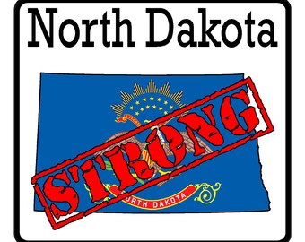 North Dakota State (K35) Strong Flag Vinyl Decal Sticker Car/Truck Laptop/Netbook Window