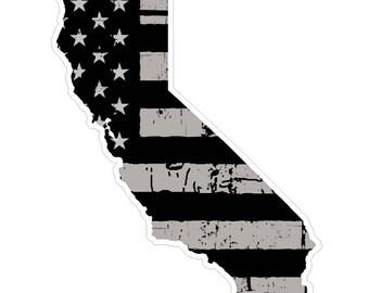 California State (N7) Distressed Flag Vinyl Decal Sticker Car/Truck Laptop/Netbook Window