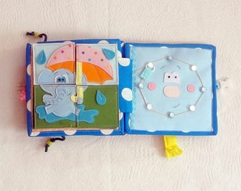 """Baby book fabric,activity book,busy book,soft boook, toy, baby book,quite baby book """"Spring"""", gift for baby, gift for kids, birthday"""