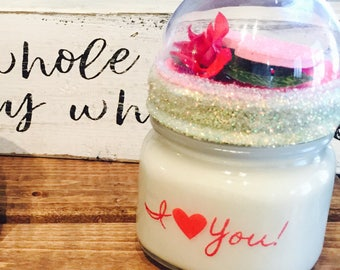 I Love You Candle, Personalized Candle, Love Candle, Unique Gift, Gift for Her, Gift for Mom, Girlfriend Gift, Valentines Day Gift