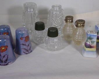 Salt and pepper shakers vintage lot