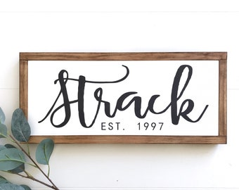 Established wood sign | last name established sign | wedding gift last name | family name established sign | gallery wall | home established