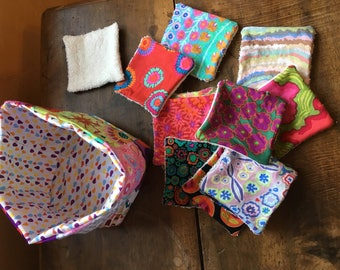 Set of 7 beautiful and ecological and economic cleansing wipes and more
