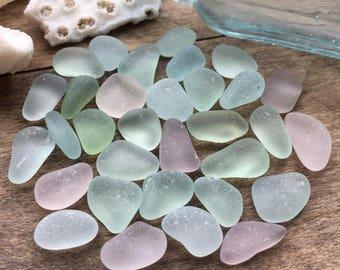 Purple & Aqua Sea Glass Mix
