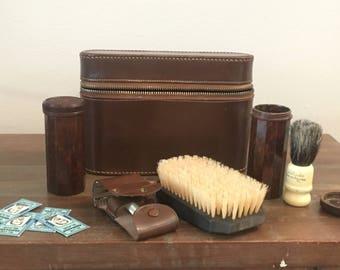 Antique Two Tix Shaving Kit