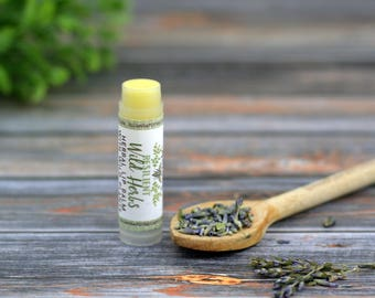 Wild Herb Lip Balm- Herbal Beeswax Lip Balm- Chapstick- Natural Skincare- Organic Lip Care- Organic Chapstick- Dry Skin- Sensitive Skin