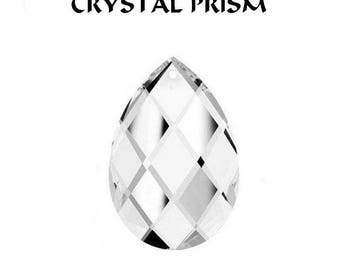 Swarovski 8741 Tear Drop Shaped Prism - Crystal Clear - Choice of 4 Sizes