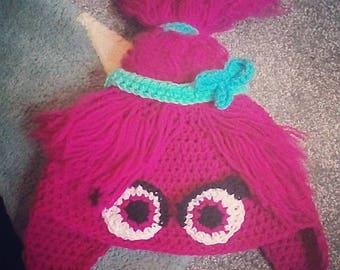 Trolls Crochet Hat