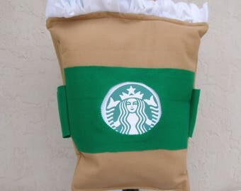 Toddler Halloween Costume Starbucks Frappuccino Fits up to Size 4X Handmade One of a Kind Loose Fit No Tripping Hazards  Quick Shipping !