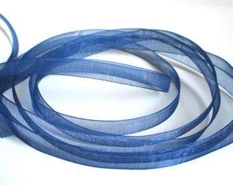 10 m 6mm Royal Blue organza Ribbon