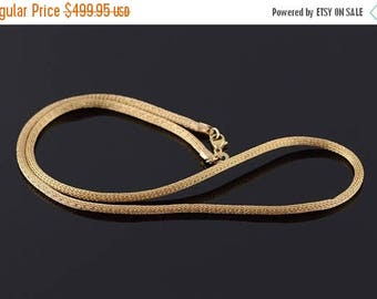 Big SALE 2.5mm Mesh Wheat Palma Link Tube Chain Necklace Gold
