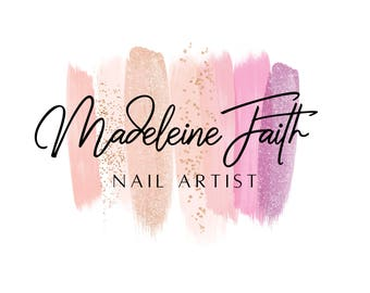 nail artist logo logo design nail salon logo gel nail logo makeup artist - Nail Salon Logo Design Ideas