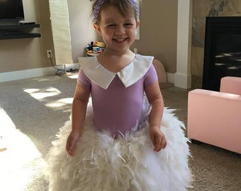 Girls Daisy Duck inspired Dress; Daisy Duck costume for girls; Daisy druck feather dress; Disney character costume for girls