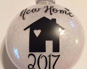 New Home Ornament, Christmas Ornament, Home Sweet Home, Housewarming Gift, House Ornament, Our New Home, New House Gift, Custom Ornament