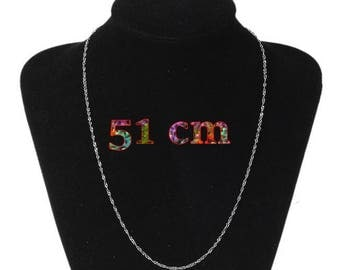 1 chain of 51 cm stainless steel necklace