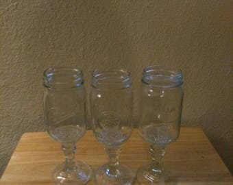 Upcycled Wine Glasses