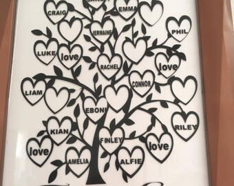 25 name family tree decal