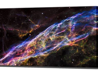 Veil Nebula Galaxy Hubble Space Wall Decor Gift for Him Husband Gifts for Men Art Canvas Print Canvas Wall Art Print Ready To Hang