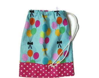 Gift card holder for towel canteen bag towel canteen, multicolored balloons, snack, red polka dots