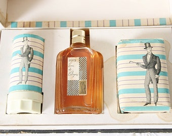 Vintage 'Rasette' After Shave Gift Box with Eau de Cologne, Shaving Soap and Soap Bar