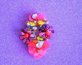 FUCHSIA FLOWER BROOCH