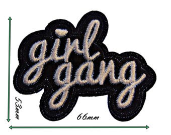 Iron On patches Girl Gang Embroidered Aplique Bdge Mtif Ptches Dy Coth Sew Patch 4