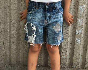 3T Toddler Boy Custom Denim Shorts