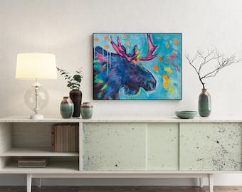 Moose painting