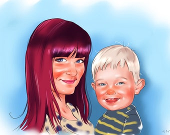 Mother's Caricature Gift