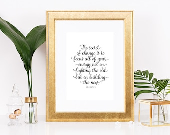 Printable: Inspirational Socrates Quote - Office Decor - Digital Download 8x10 AND 5x7