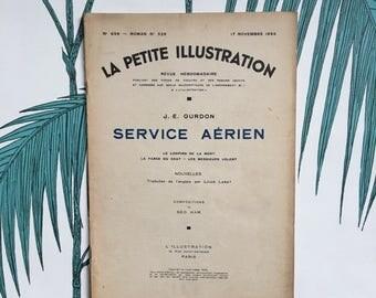 SALE French Literary Journal. La Petite Illustration. Ancienne Revue. Novels. Ephemera. Literary Gifts. Géo Ham Illustrations. Service Aérie