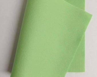 "8"" x 12"" Granny Smith Apple 100% Merino Wool Felt Sheet"