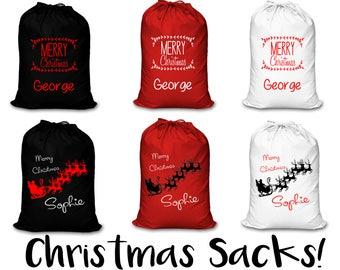 Christmas Sacks ! Personalised Christmas Sacks, christmas decoration, Personalised Sack, Christmas Sacks, Kids Sacks, Adult Sack, Santa Sack